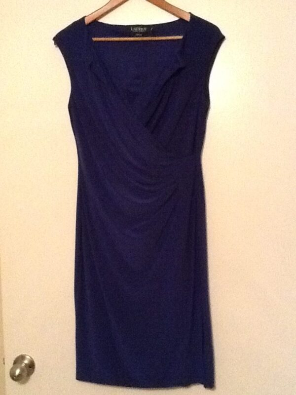 Royal Blue Ralph Lauren Dress | Curvy Girl Closet