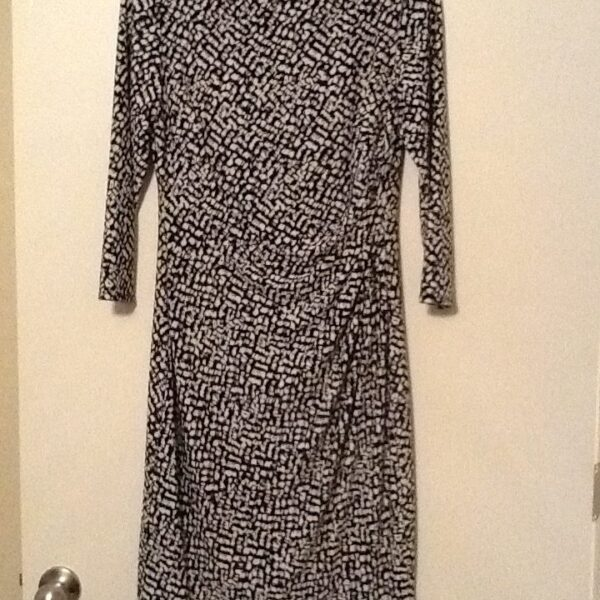 Ralph Lauren Black & White Print Dress | Curvy Girl Closet