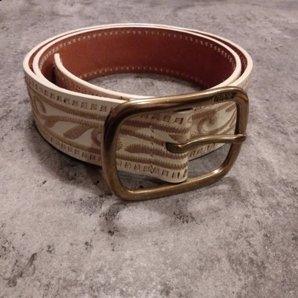 Ralph Lauren Leather Belt |Curvy Girl Closet