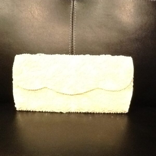 Ivory Vintage Beaded Clutch Purse | Curvy Girl Closet